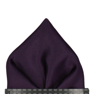 Midnight Purple Solid Plain Satin Pocket Square
