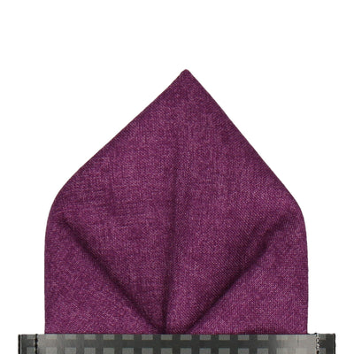 Cotton Purple Marl Pocket Square