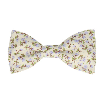 Lilac & Off White Ditsy Floral Bow Tie