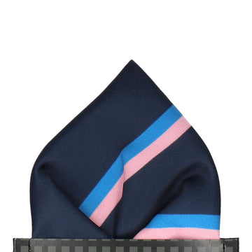 Colonel in Navy & Pink Pocket Square