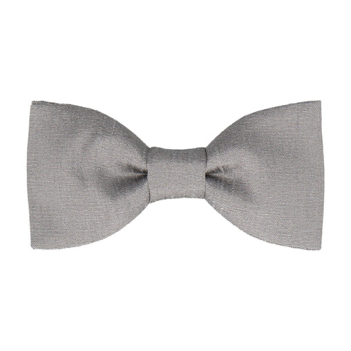Faux Silk Dove Grey Bow Tie