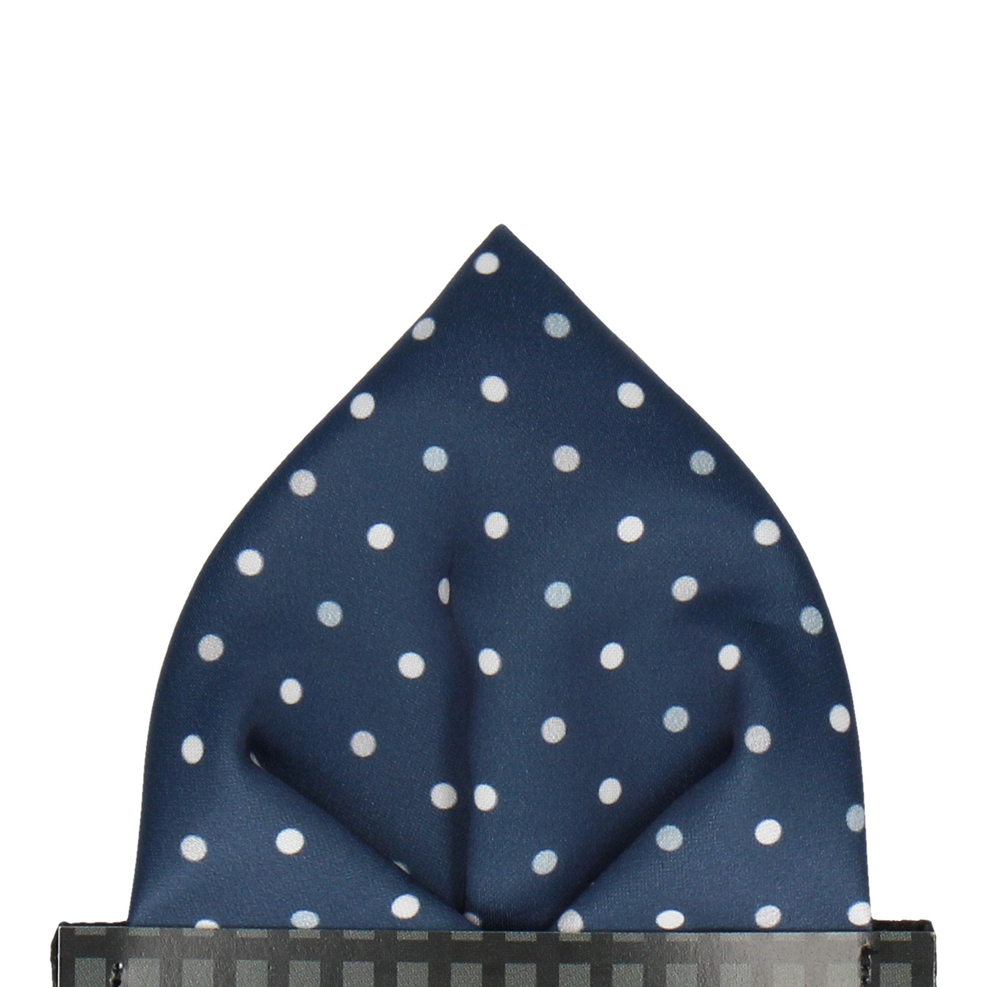Oakmere in Navy & Grey Pocket Square