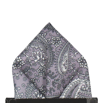 Arya in Silver Lavender Pocket Square
