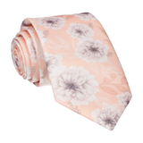 Light Peach Wedding Floral Tie