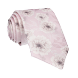 Light Orchid Pink Wedding Floral Tie