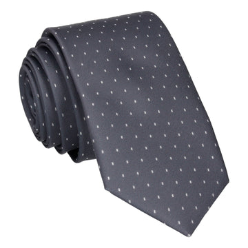 Grey Simple Fleck Tie