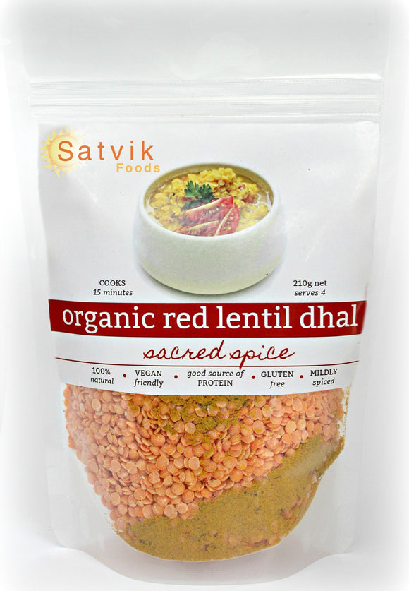 Organic Red Lentil Dhal - Sacred Spice
