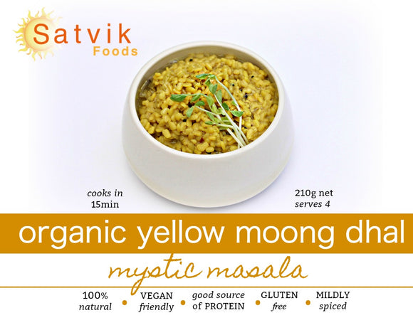 Organic Yellow Moong Dhal with Mystic Masala Spice