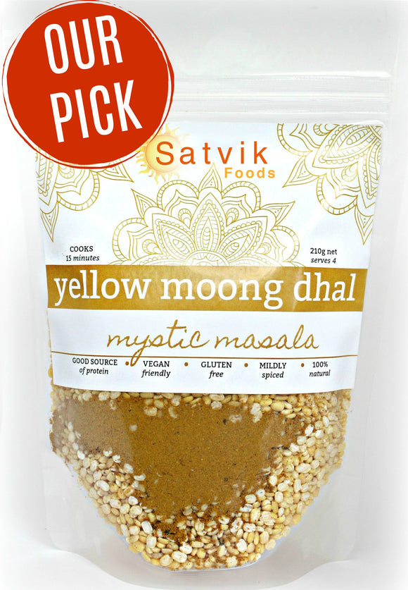 Yellow Moong Dhal by Satvik foods is an easy delicious meal ready in 15 minutes