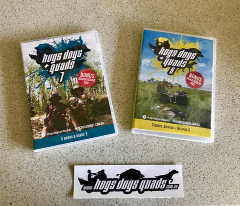 Hogs Dogs Quads 7,8 Combo!! & 2x BONUS FISHING DVD's!! - Hogs Dogs Quads Shop