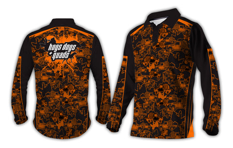 NEW Off-road Rigs Long Sleeve Shirt - Orange Camo - Hogs Dogs Quads Shop
