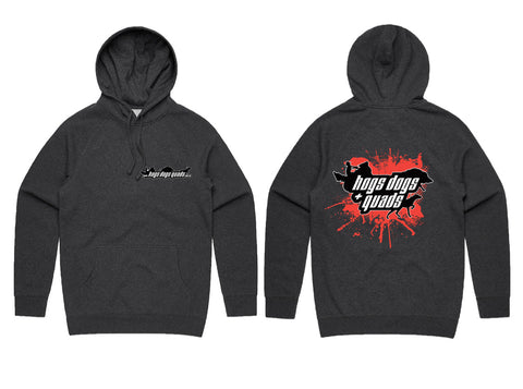 HDQ Hoodie - Charcoal - Hogs Dogs Quads Shop