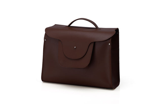 London Briefcase - Dark Brown