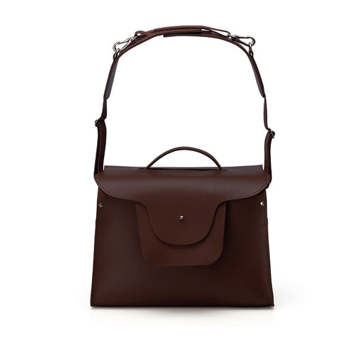 London Satchel - Dark Brown