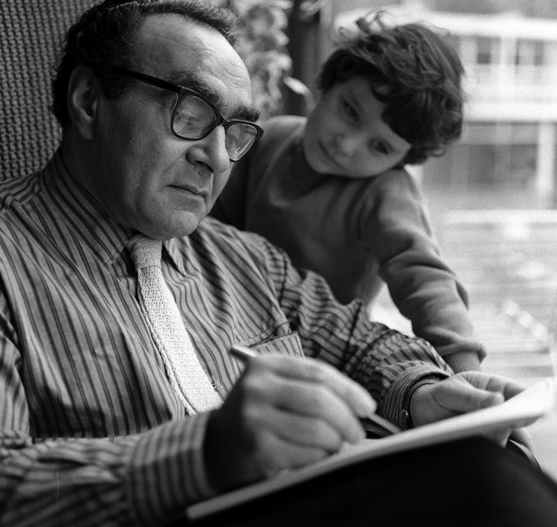 Dr Jacob Bronowski with his daughter 1961