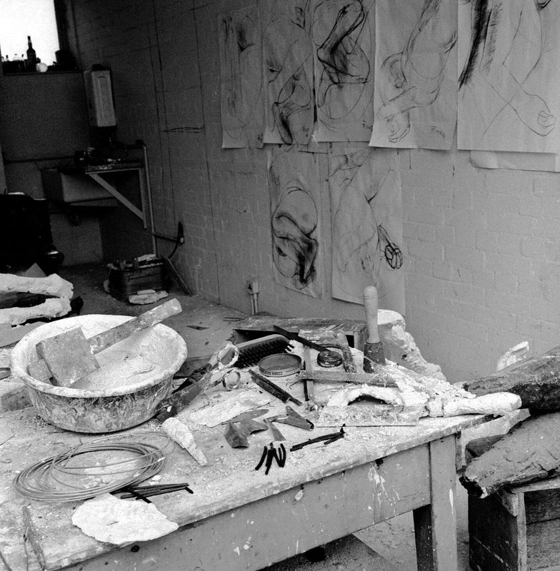 Liz Frink's London Studio 1960