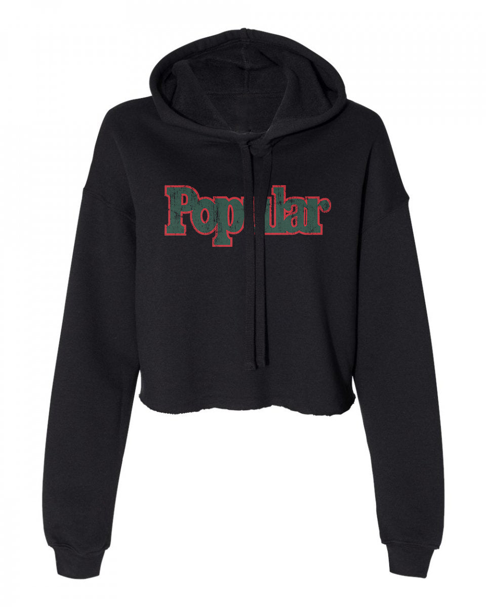 Popular Cropped Fleece Hoodie - sobepolitics