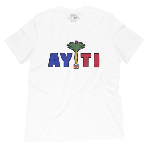 Men's White Haiti T-Shirt