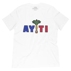 Men's White Haiti T-Shirt - sobepolitics