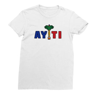 Women's White Haiti T-Shirt - sobepolitics