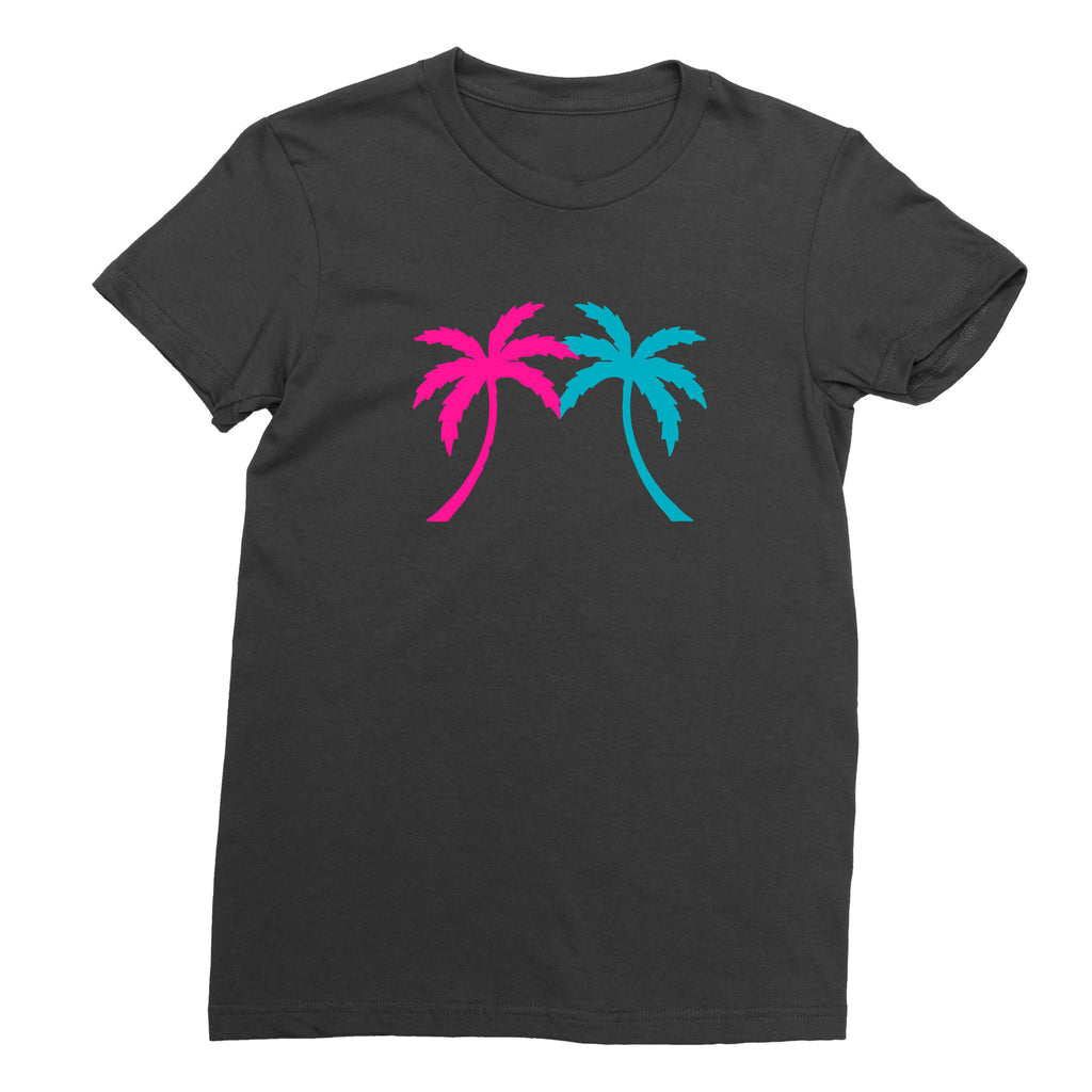 Women's Miami Palm Tree T-Shirt - sobepolitics