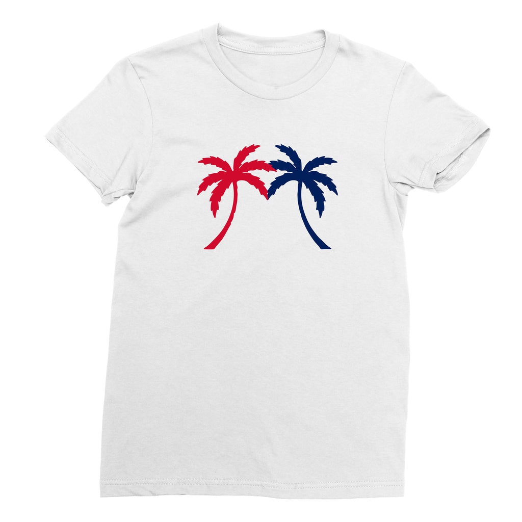 Women's U.S. Miami Palm Tree T-shirt - sobepolitics