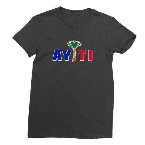 Women's Black Haiti T-Shirt - sobepolitics