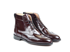 Handmade Leather Boots Wingtip Brogue