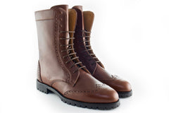 Leather Handmade Combat Boots