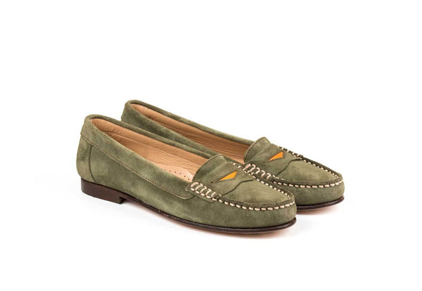 Penny Loafer Green Suede
