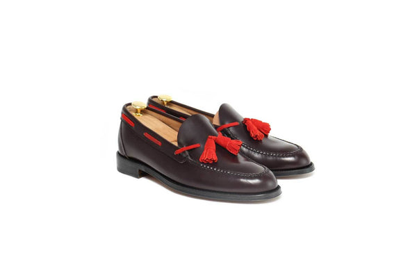 Tassel Loafer Hickory Red Leather