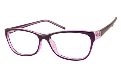 AQ113 Purple/Crystal Glasses Angle