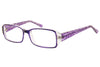 Aquarius 103 Ladies Glasses Purple Angle