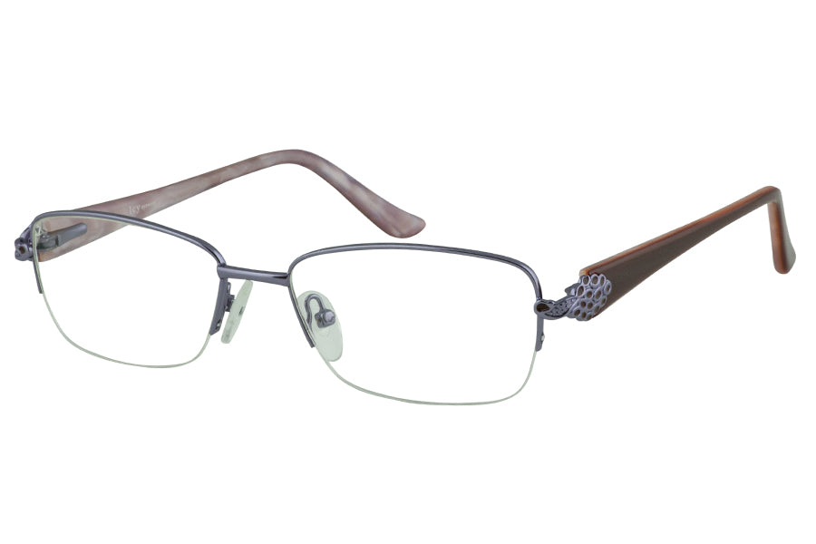 Icy 768 Supra Flex Half-Rim Metal Glasses For Women With Spring ...