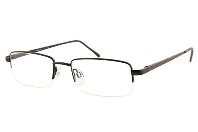 Saturn H Half-Rim Metal Glasses Black