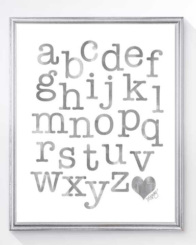 abc art print in gray