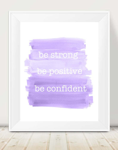 inspirational art print for girl's in purple