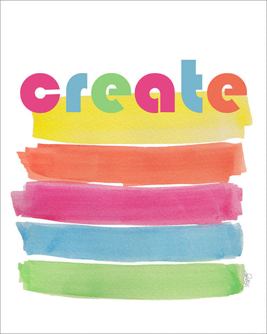 create-rainbow art print for kids
