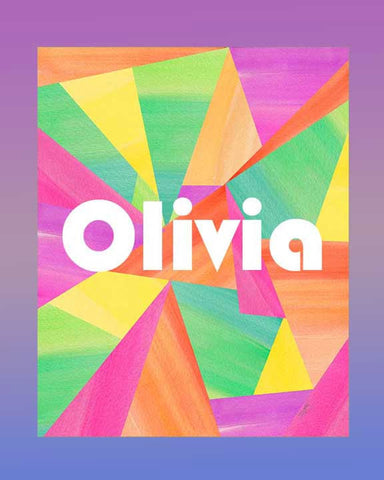 Kaleidoscope art print for kids personalized with name