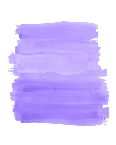 purple brushstrokes art print