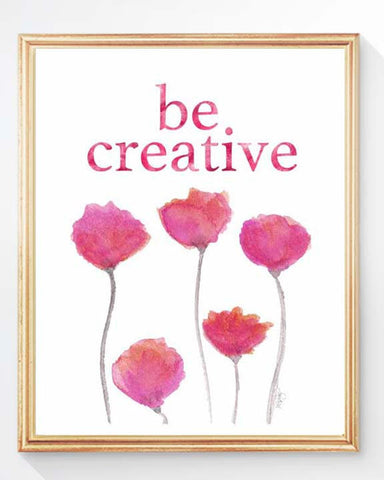 Be Creative- pink tulips art print