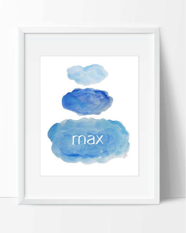 Clouds Blue-Personalized