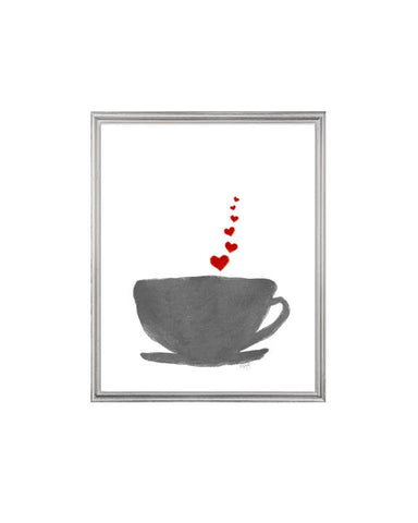Red and Gray Coffee Cup