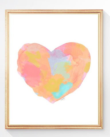bright pastel watercolor art print