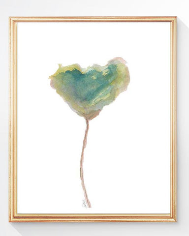 Watercolor tulip art print