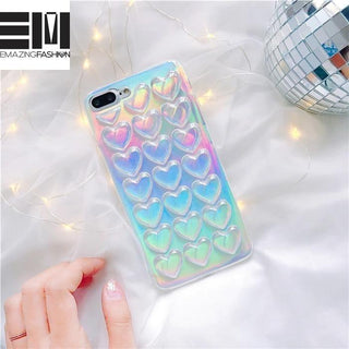 Holographic Geometric Pastel Phone Case - Emazing Fashion