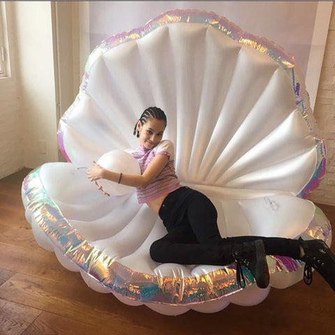 Giant Inflatable Mermaid Shell Pool Float