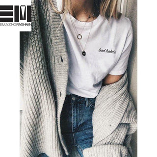 Bad Habits T-shirt - Emazing Fashion