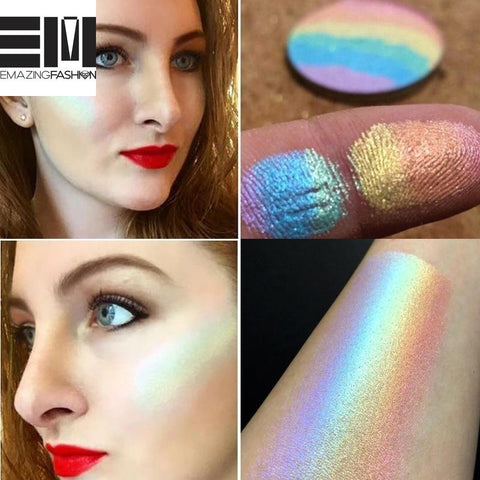 Rainbow Contouring Face Shimmer Highlighter