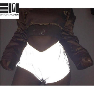 2019 Reflective Fashion Casual Shorts For Women - Emazing Fashion